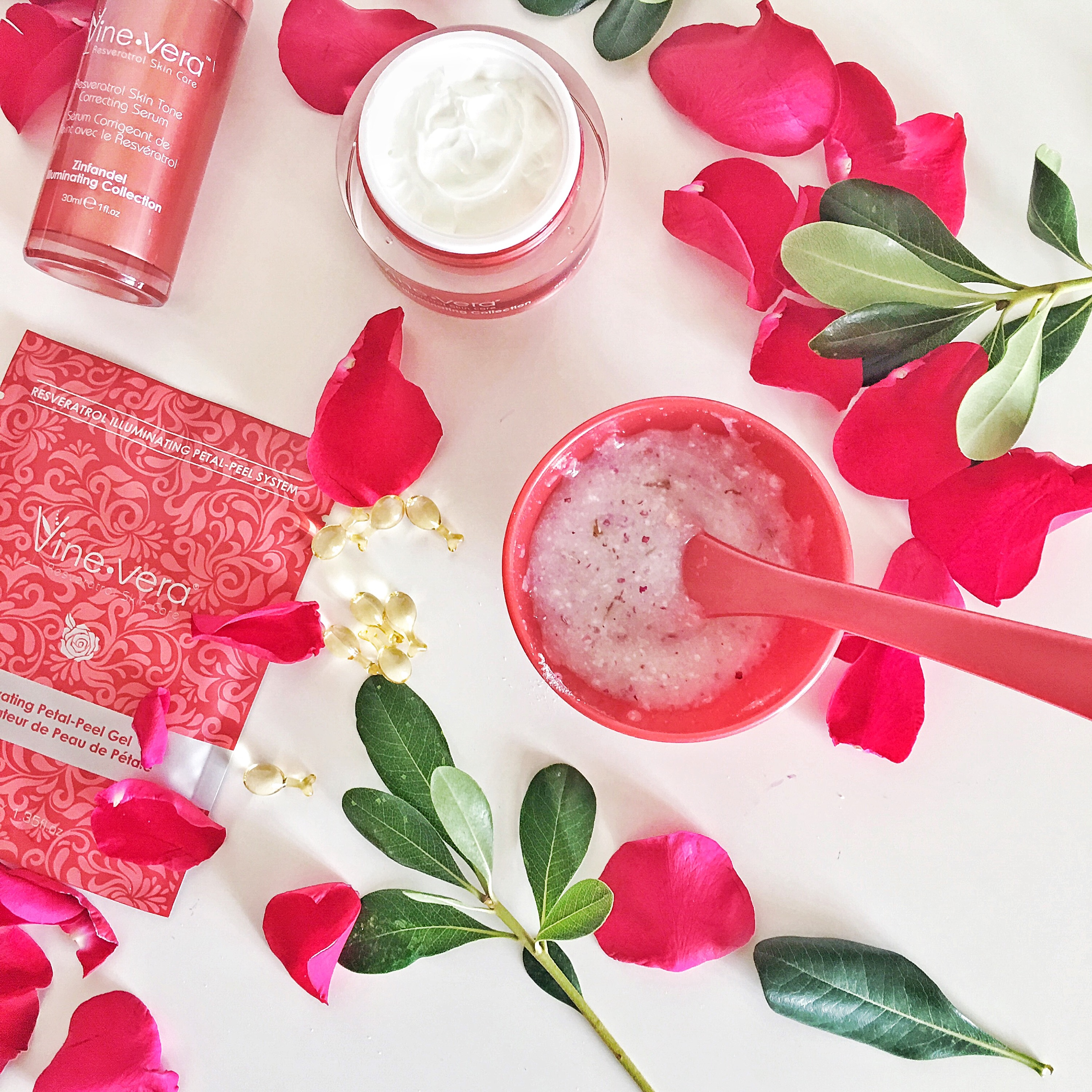 vine vera, skin care, rose water, salted sisters, face mask